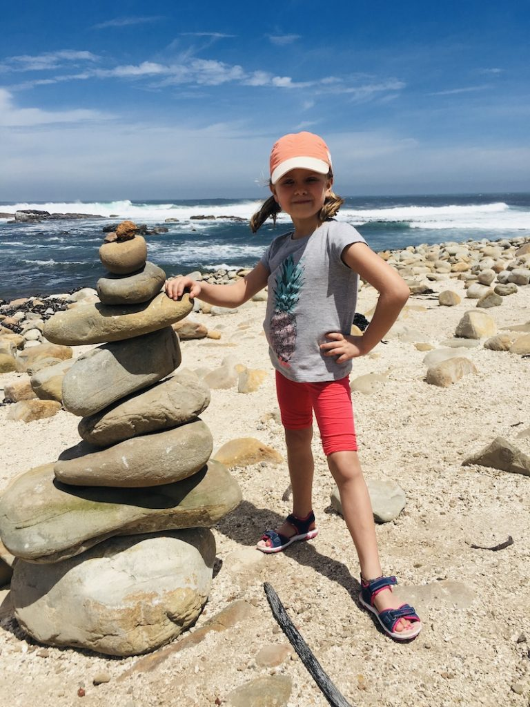 Steinburgen bauen am Kap der guten Hoffnung, Südafrika