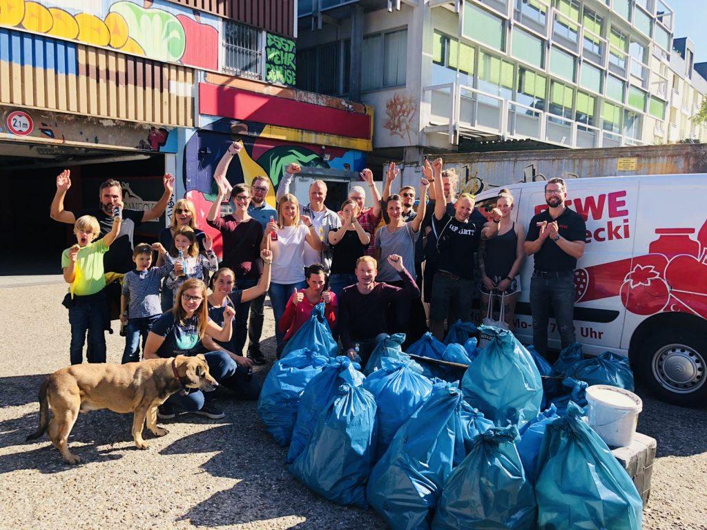Cleanup mit Rewe in Dortmund, Möllerbrücke